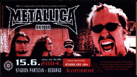 Metallica 2004.
