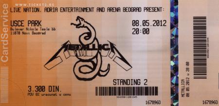Metallica 2012.